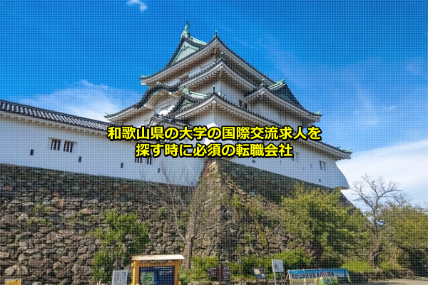 和歌山県の大学の国際交流求人の発生がある和歌山市(和歌山城)の画像