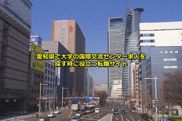 愛知県の大学の国際交流センター求人の集まる名古屋市の画像