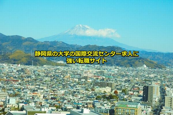 静岡県の大学の国際交流センター求人の募集の多い静岡市(富士山)の画像