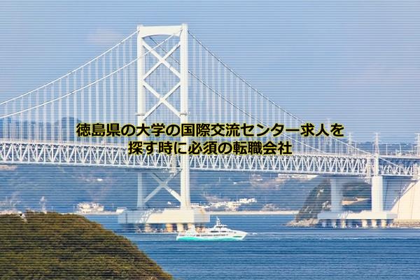 徳島県の大学の国際交流求人を探す時に必須なのはマイナビエージェント、JOBNET