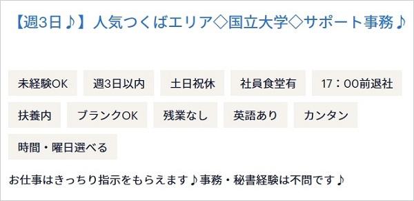 茨城県の大学の国際交流センター求人の例の画像