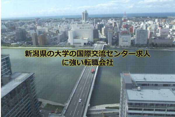 新潟県の大学の国際交流センター求人の集まる新潟市