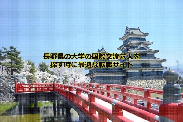 長野県の大学の国際交流求人が比較的発生する松本市