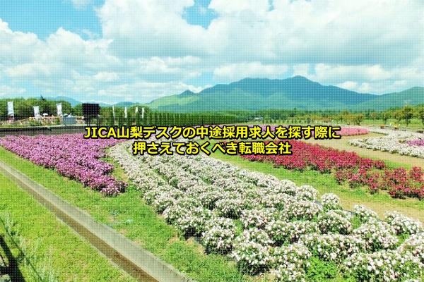 山梨県山中湖村にある花の都公園の画像