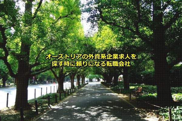 オーストリアの外資系企業が比較的集まる東京都港区(神宮外苑)の画像